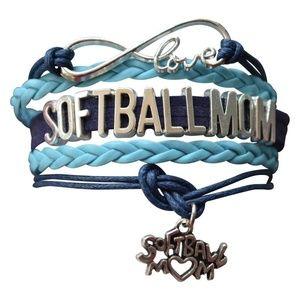 Softball Mom Bracelet , Perfect Gift for soft Moms